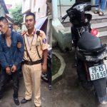 Hà Nội: Lấy trộm chiếc xe máy có định vị, nam thanh niên bị CSGT vây bắt giữa đường